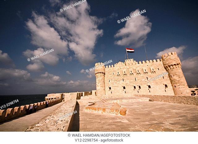 Fort of Qaitbay, Built in the 15th century AD, Alexandria, Egypt