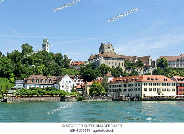 Cityscape Meersburg, Lake Constance, Baden-Württemberg, Germany
