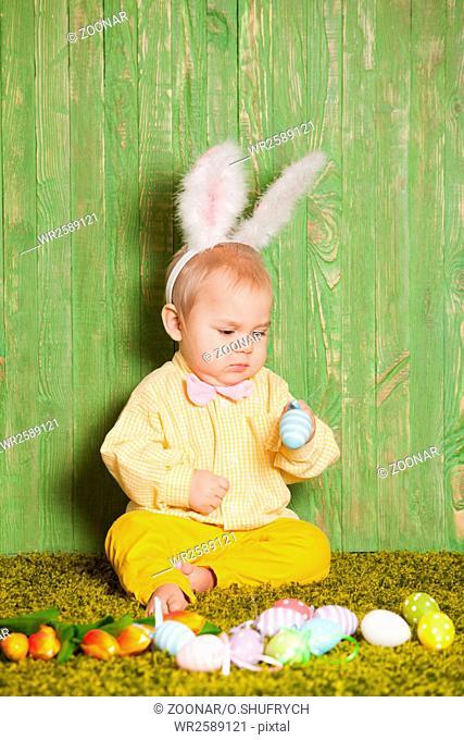 Easter rabbit toddler