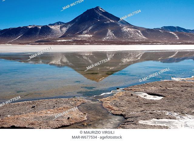 laguna blanca, riserva eduardo avaroa, los lipez, altopiano, bolivia, america del sud