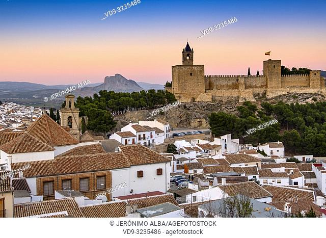Old town and citadel castle. Monumental city of Antequera, Malaga province. Andalusia, Southern Spain. Europe