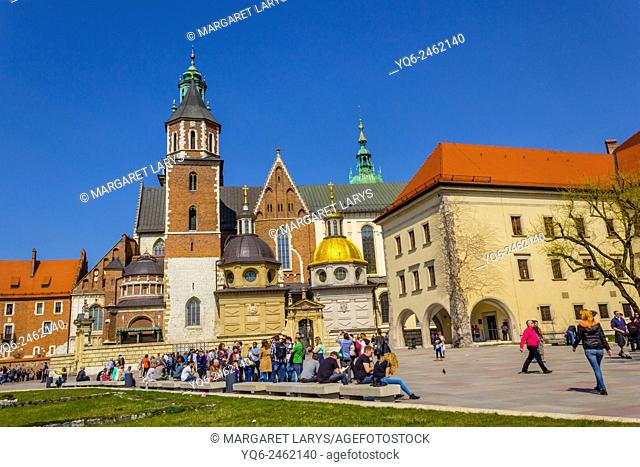 King Sigismund's Cathedral and Chapel, Royal Castle at Wawel Hill, Krakow, Poland