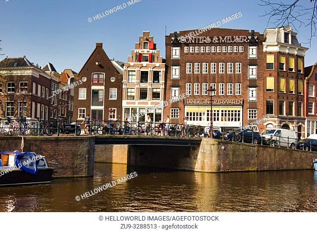 Canal and architecture scene, Amsterdam, Holland