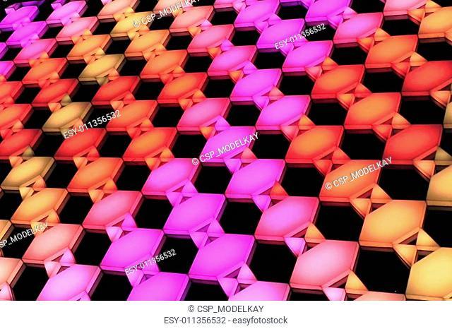 color hexagon panel