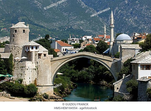 Bosnia and Herzegovina, Mostar, listed as World Heritage by UNESCO, Old Bridge Stari most