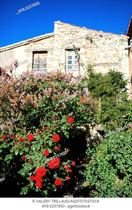 The village of Sigale in the Esteron Valley, Prealpes d'Azur regional park, Alpes-Maritimes, Provence-Alpes-Côte d'Azur, France