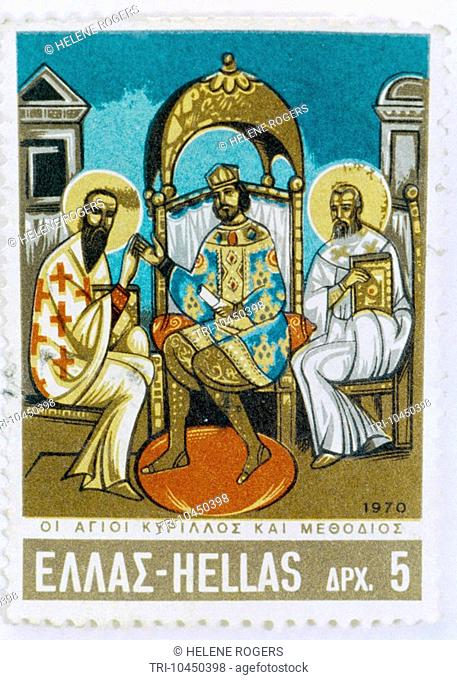 Saint Cyril & Methodius On Stamp