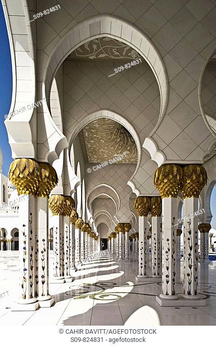 The Sheikh Zayed Mosque, Al Maqta district of Abu Dhabi, Abu Dhabi, United Arab Emirates