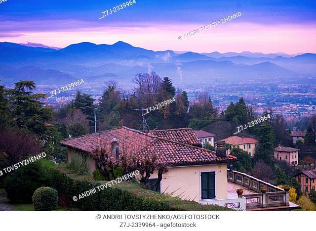 Views of Bergamo in the morning.Italy