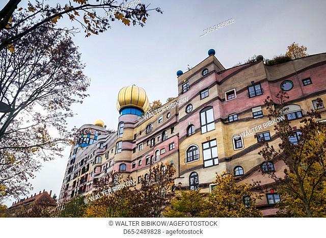 Germany, Hesse, Darmstadt, Waldspirale Residential Complex, designed by Austrian artist Friedensreich Hundertwasser, exterior