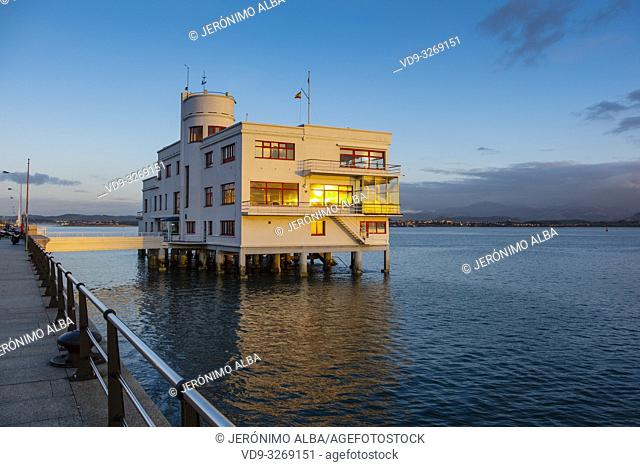 Real Club Maritimo, Santander coast and Cantabrian Sea. Cantabria, Spain. Europe