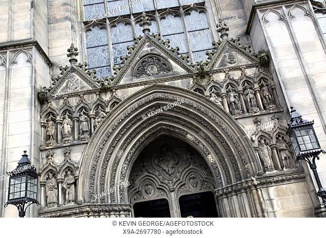 St Giles Cathedral Church Facade, Royal Mile; Lawnmarket; Edinburgh; Scotland