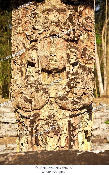 Great Plaza, Mayan ruins of Copan, Honduras