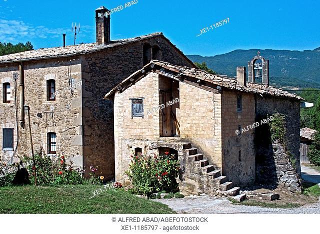 St Lleir hermitage, Solsones, Catalonia, Spain