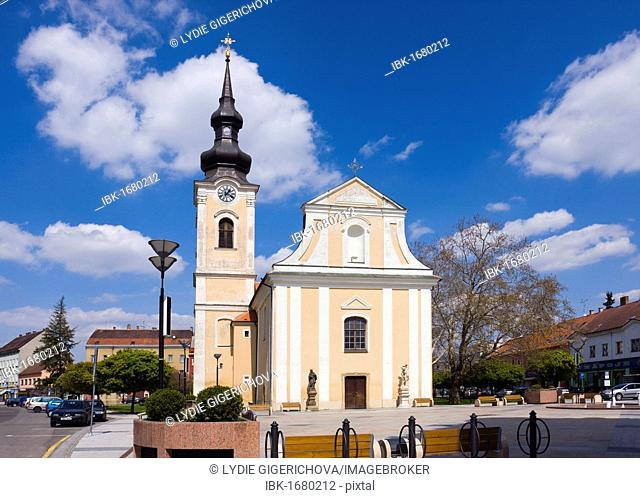 Church of St. Lawrence, cultural heritage, Masaryk square, Hodonín, Hodonín district, South Moravia region, Czech Republic, Europe