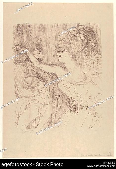 Guy and Mealy, in Paris Qui Marche. Artist: Henri de Toulouse-Lautrec (French, Albi 1864-1901 Saint-André-du-Bois); Date: 1898; Medium: Crayon lithograph...