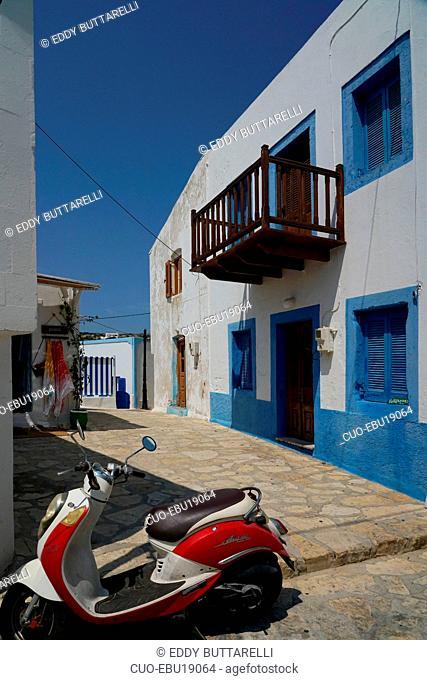 Lipsi village, Lipsi or Lissos island, Southern Aegean Sea, Dodecaneso, Twelve Island, Greece, Europe