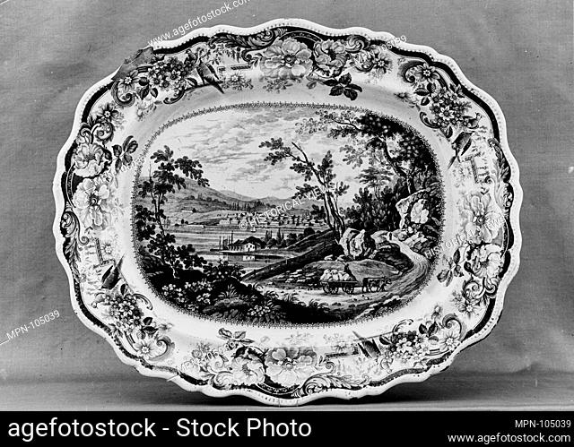 Platter. Maker: James and Ralph Clews (British, Cobridge, Stoke-on-Trent, active ca. 1818-36); Date: ca. 1825-ca. 1834; Geography: Made in Staffordshire