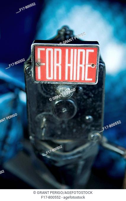close up colorful shot of a rickshaw fare meter