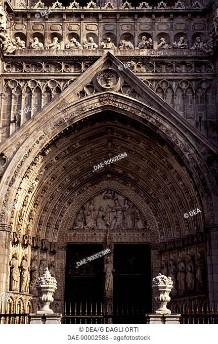 Door of Forgiveness, 1418, by Alvar Matinez, detail from the Primate Cathedral of St Mary, Toledo, Castile-La Mancha. Spain, 15th century