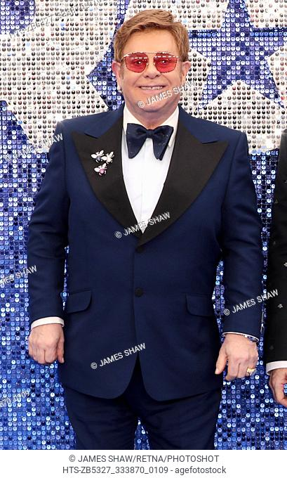 Sir Elton John arrives for the 'Rocketman' film premiere, London, UK