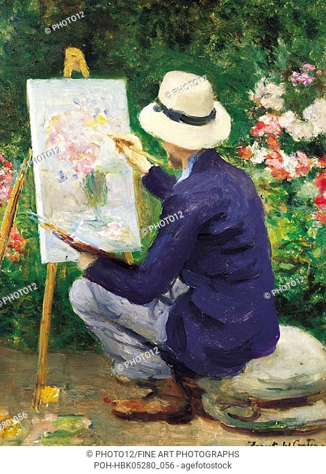 painting / Frank W. Carter (1870-1933) At the Easel England, Christopher Cole