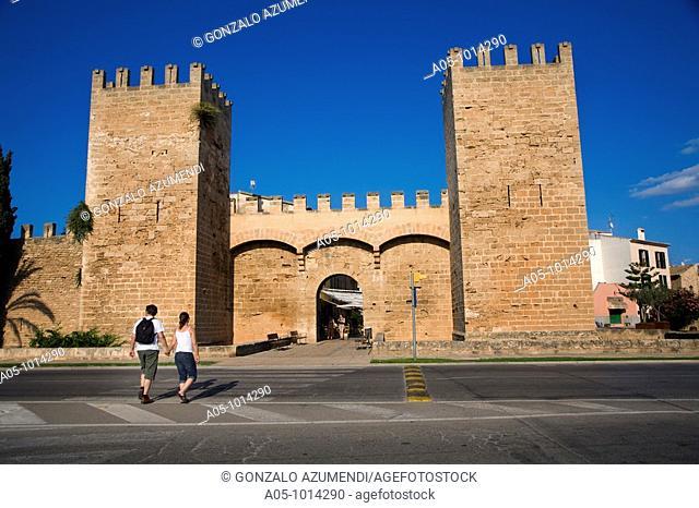 Alcudia walls (14th-16th century), Majorca, Balearic Islands, Spain