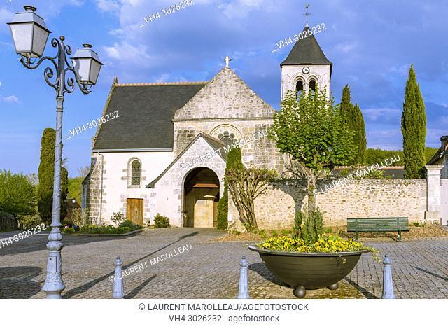 Saint-Martin-de-Vertou Church of Saché. Canton of Chinon, Indre-et-Loire Department, Centre-Val de Loire Region, Loire valley, France, Europe