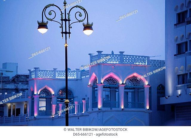 OMAN-Muscat-Mutrah: Mutrah Corniche Streetlights