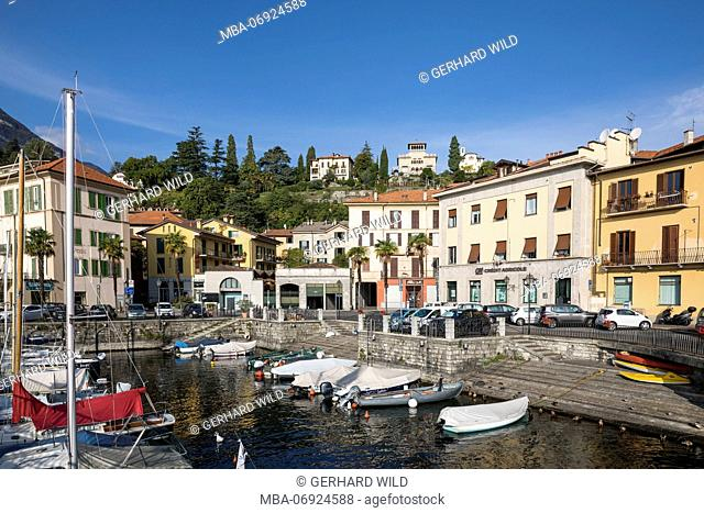 Port of Menaggio, Lake Como, Province of Como, Lombardy, Northern Italy, Italy, Southern Europe, Europe