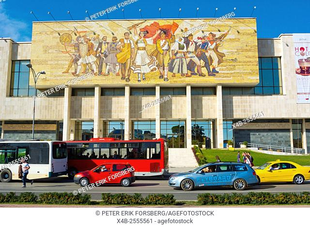 Muzeu Historik Kombetar, National History Museum, Sheshi Skenderbej, Skanderbeg square, main square, Tirana, Albania