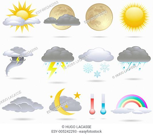 Vector weather icons collection