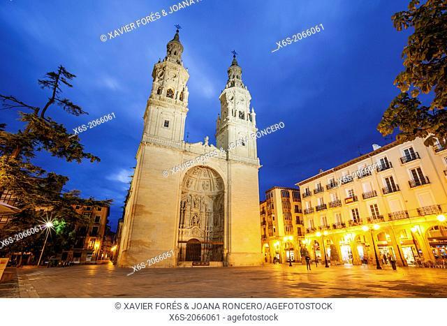 St. James way, Cathedral of Santa María de la Redonda at Logroño, La Rioja, Spain