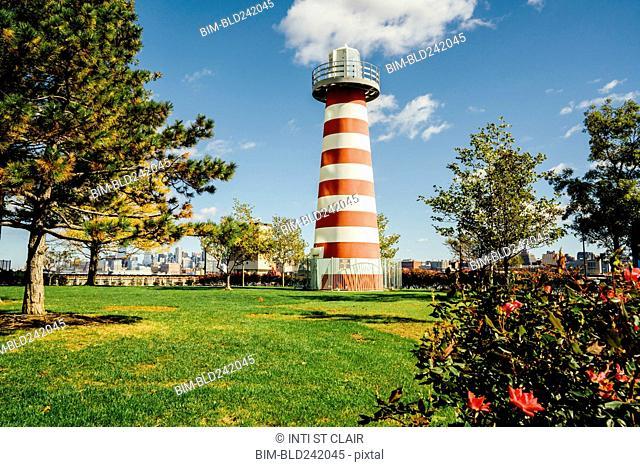 Lefrak Point Lighthouse, Jersey City, New Jersey, United States