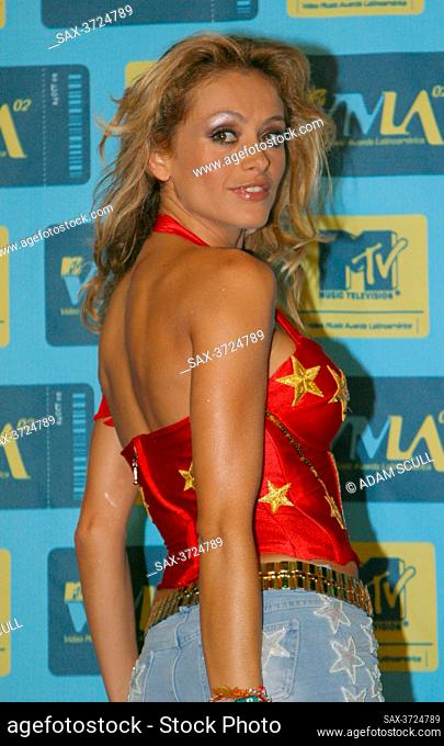 Miami Beach, FL 10-25-2002.Paulina Rubio attending the.MTV Video Awards Latin America.Photo By Adam Scull/PHOTOlink