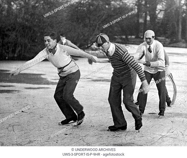 Eton, England: 1925.Eton College celebrated its 485th birthday by giving the boys a holiday, which most spent skating on the lake at Ditton Park