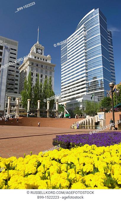 Pioneer Courthouse Square Downtown Portland Oregon USA