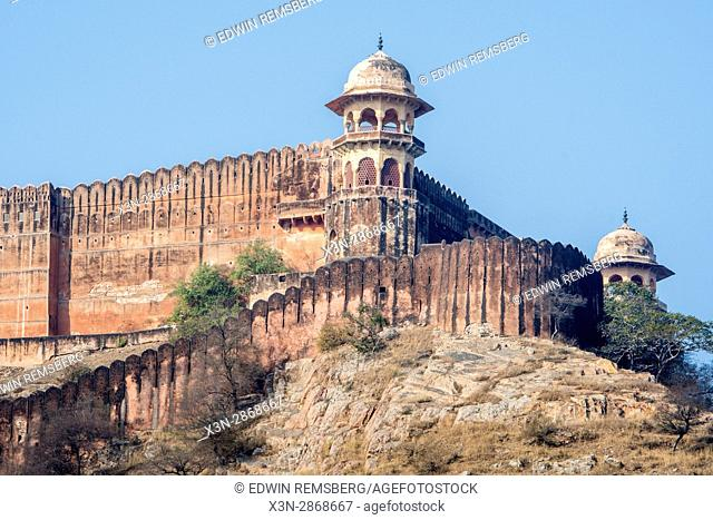 Tower of Amber Fort in India