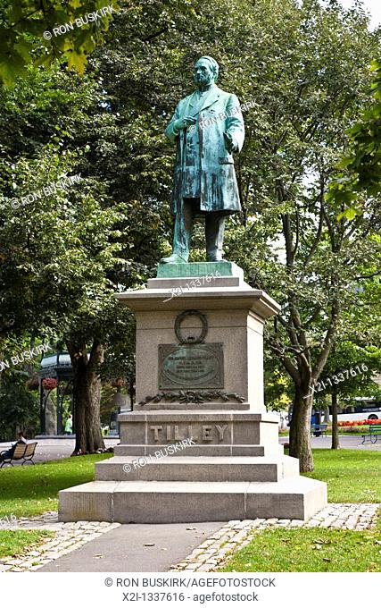 Staute of Samuel Leonard Tilley in King's Square in Saint John, New Brunswick, Canada