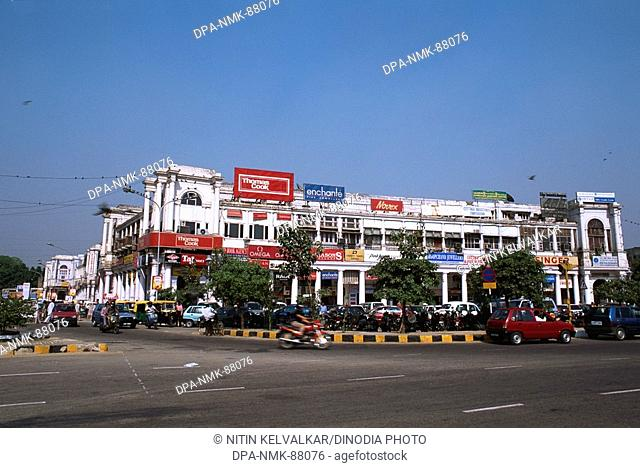 Shopping and office area , Connaught place , New Delhi , India