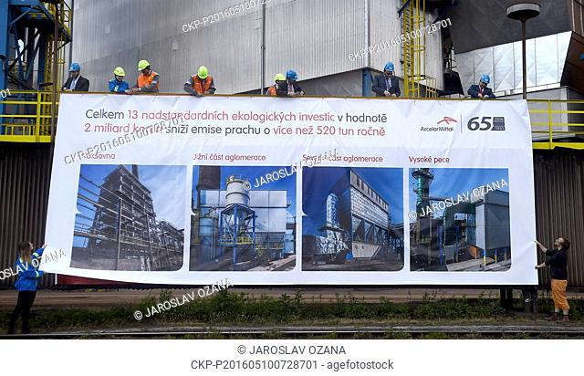 Presentation of eco-friendly investments worth Kc2bn in ArcelorMittal Ostrava steelworks connected with tour of steel plant took place on Tuesday, May 10, 2016