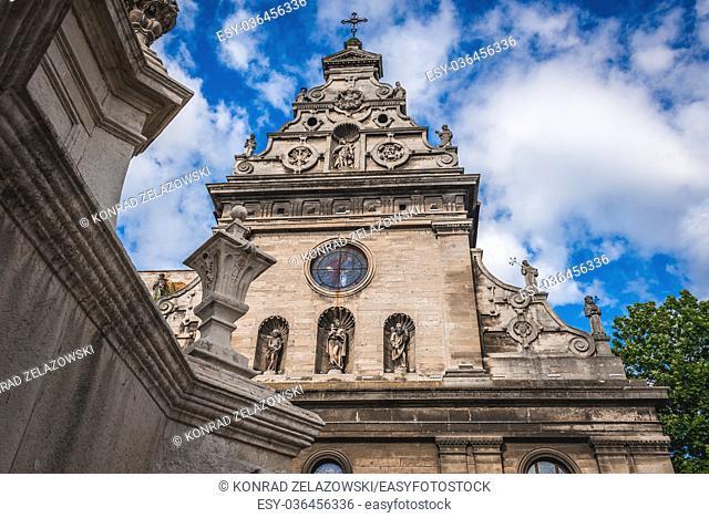 Saint Andrew Church of former Bernardine monastery on the Old Town of Lviv city, largest city in western Ukraine