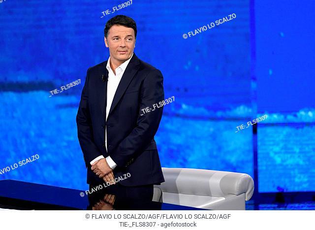 Former Italian Prime Minister and founder of Italia Viva party Matteo Renzi during the tv show Che tempo che fa, Milan, ITALY-20-10-2019