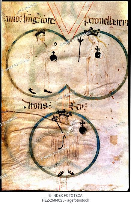 Ramon Berenguer IV (1113-1162), count of Barcelona, and Petronila (1136-1173), queen of Aragón. A?