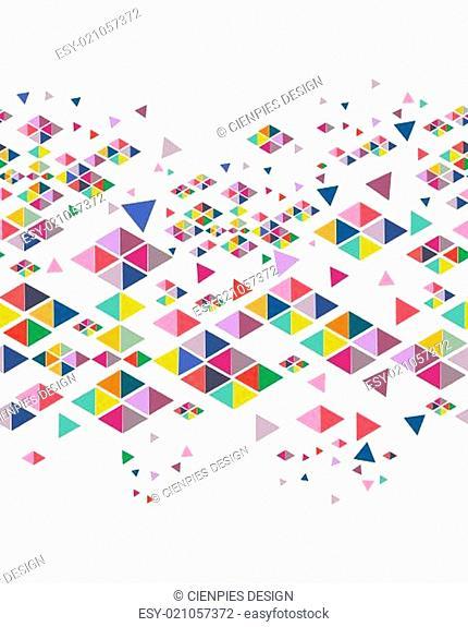 Trendy vintage hipster geometric seamless pattern