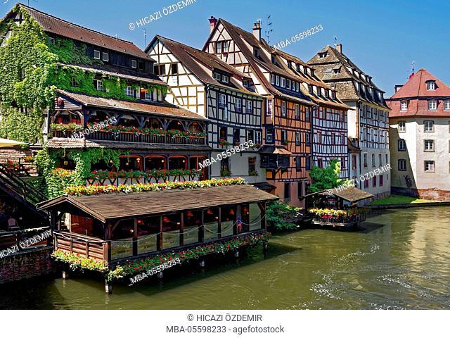 Historical restaurant in the tanner's quarter, Strasbourg, France