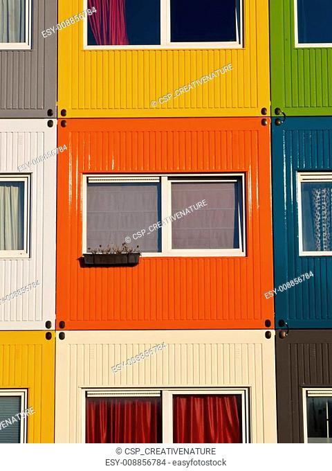 colorful student housing