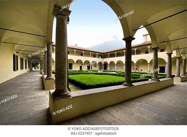 Italy, Lombardy, Civate, San Calocero cloister, Chiostro di san Calocero