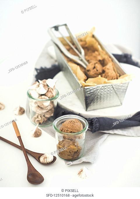 Home-made chocolate ice cream