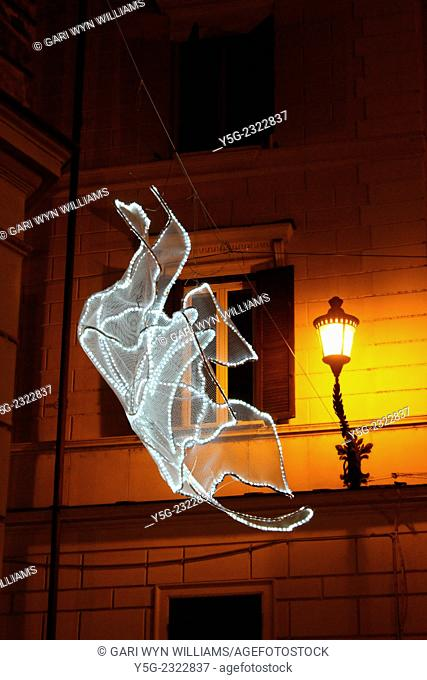 Rome, Italy. 7th December, 2014. Christmas lights in the centre of Rome Italy